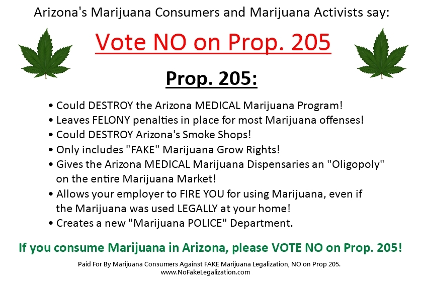 Arizona Marijuana Legalization Prop 205